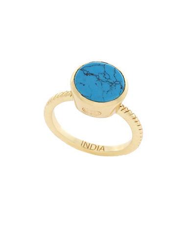 Cole Haan Spring Street Semi-Precious Stone Ring-BLUE-7