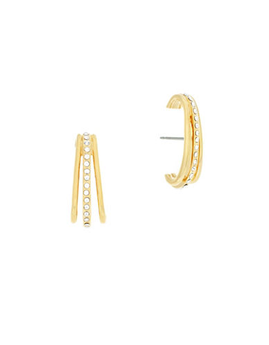 Botkier New York Three-Row Lobe Earrings-GOLD-One Size