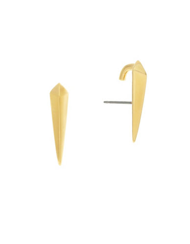 Botkier New York Bolted Lobe Earrings-GOLD-One Size