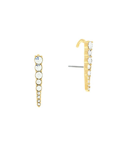 Botkier New York Pave Bar Lobe Earring-GOLD-One Size