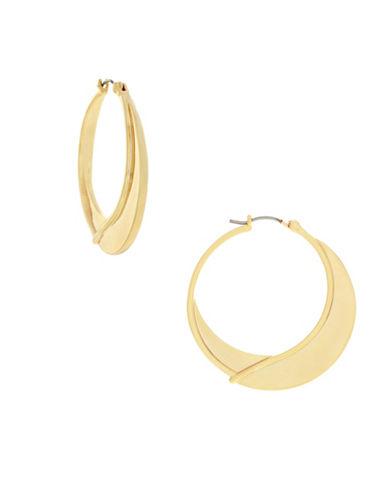 Botkier New York Wrap Hoop Earrings-GOLD-One Size