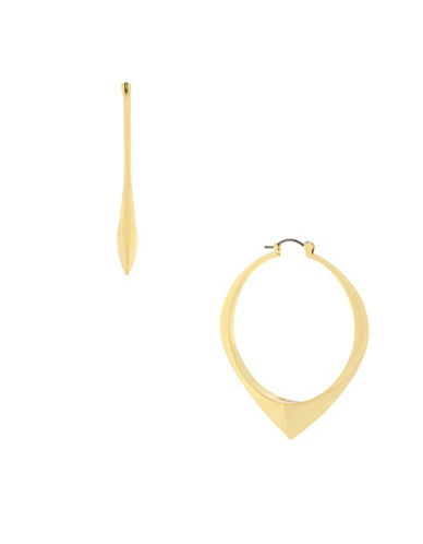 Botkier New York Symbol Hoop Earrings-GOLD-One Size