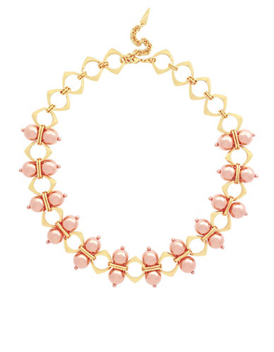 Botkier New York Ball and Chevron Necklace-ROSE GOLD-One Size
