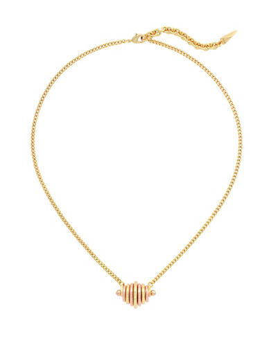 Botkier New York Disc Pendant Necklace-ROSE GOLD-One Size