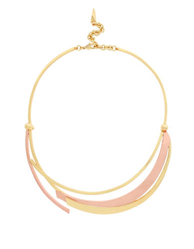 Botkier New York Blades Faux Collar Necklace-ROSE GOLD-One Size