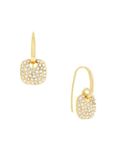 Cole Haan Pave Cushion Drop Earrings-GOLD-One Size
