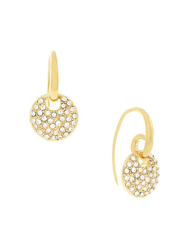 Cole Haan Pave Plate Drop Earrings-GOLD-One Size
