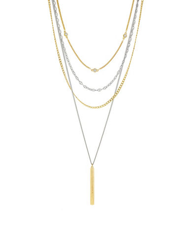Cole Haan Marine Links Two-Tone Multi-Chain Necklace-TWO TONE-One Size