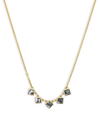 Cole Haan Summer Sunset Station Necklace-GOLD-One Size