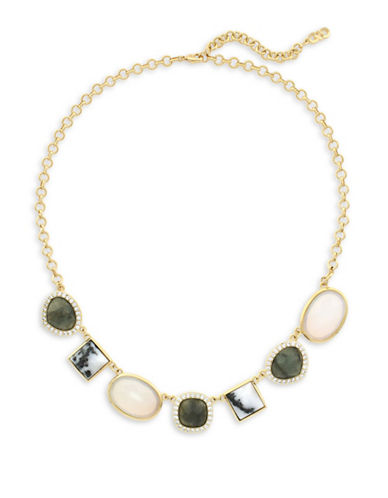 Cole Haan Summer Sunset Drama Station Necklace-GOLD-One Size
