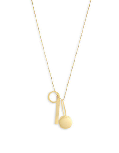 Botkier New York 4/25 Charm Pendant Necklace-GOLD-One Size