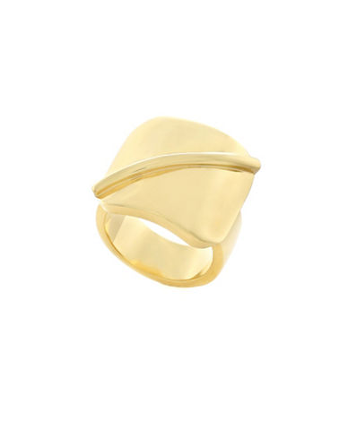 Botkier New York Goldtone Grooved Ring-GOLD-7