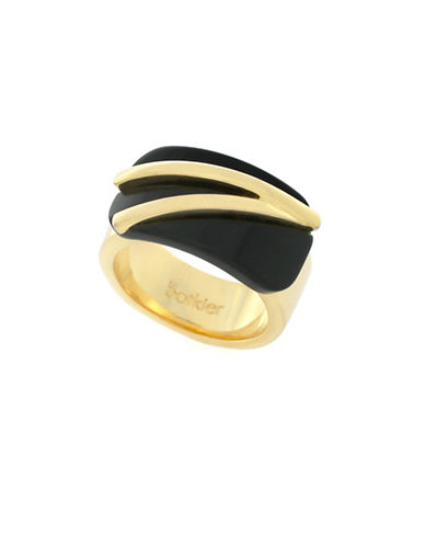 Botkier New York Two-Tone Angle Ring-GOLD-7