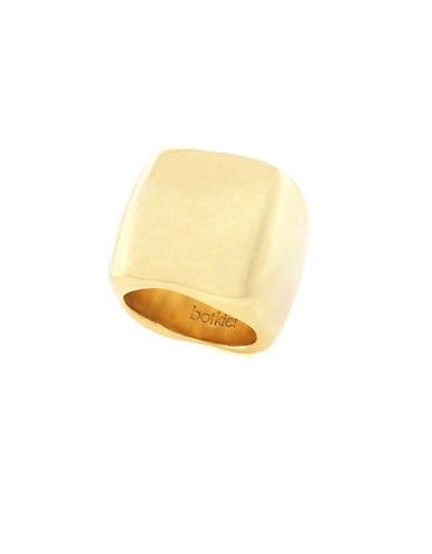 Botkier New York Goldtone Wide-Band Ring-GOLD-7