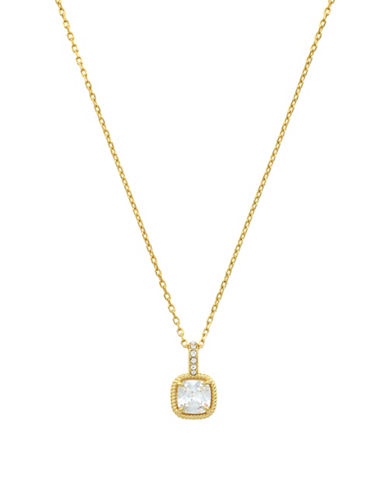 Cole Haan Crystal & goldtone Solitaire Pendant Necklace-GOLD-One Size