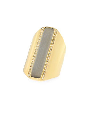 Cole Haan Catseye On You Bar Cocktail Ring-GOLD-7