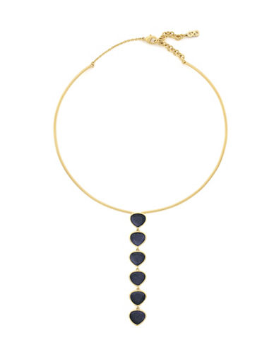 Cole Haan Garden At Midnight Torque Collar Necklace-BLUE-One Size