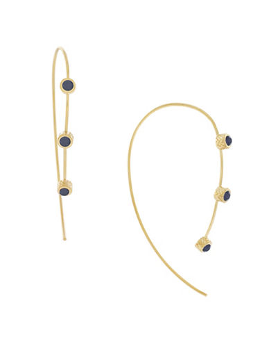 Cole Haan Garden At Midnight Wire Threader Earrings-GOLD-One Size