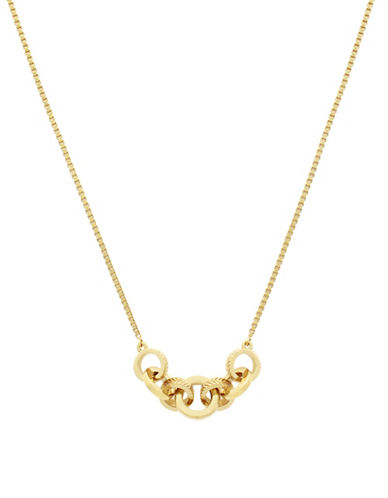 Cole Haan Catseye On You Chain Ring Pendant Necklace-GOLD-One Size