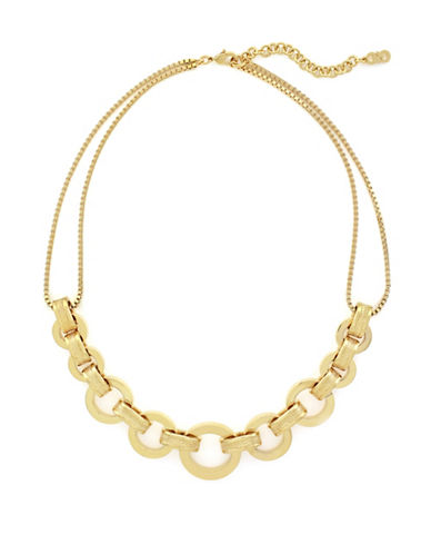 Cole Haan Put A Ring On It Chunky Statement Necklace-GOLD-One Size