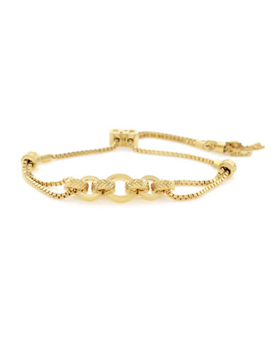 Cole Haan Put A Ring On It Statement Pull-Tie Bracelet-GOLD-One Size