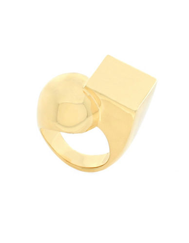 Botkier New York 4/25 Round and Square Ring-GOLD-8