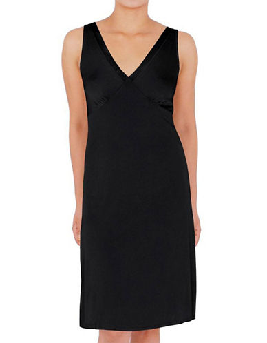 Jones New York Vneck Full Slip-BLACK-Medium plus size,  plus size fashion plus size appare