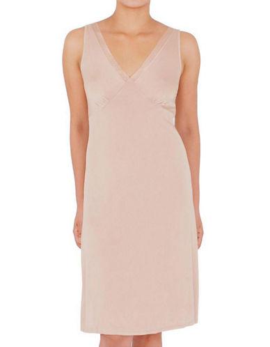 Jones New York Vneck Full Slip-NATURAL-Small plus size,  plus size fashion plus size appare