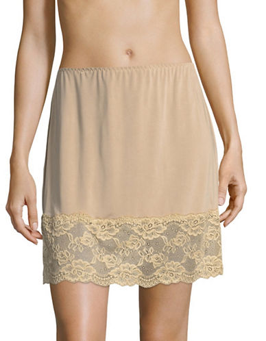 Jones New York Lace-Trimmed Half Slip-NUDE-Large