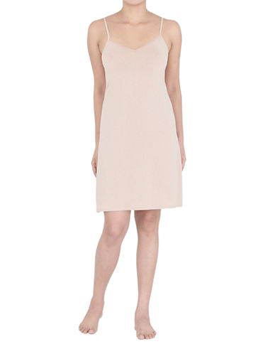 Jones New York Full Slip with V Neckline-NUDE-Medium plus size,  plus size fashion plus size appare
