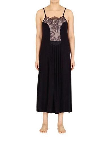Jones New York Contrast Panel Nightgown-BLACK-Medium