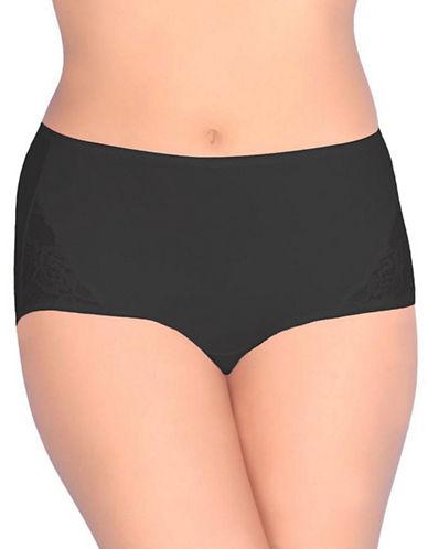Jones New York Tummy Modern Brief-BLACK-X-Large