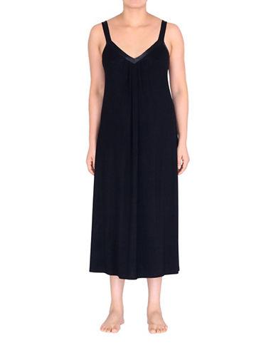 Jones New York Solid Sleeveless Gown-BLACK-Small