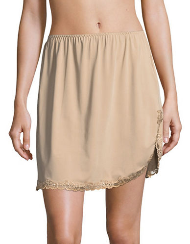 Jones New York Lace-Trimmed Half Slip-LIGHT BEIGE-Large