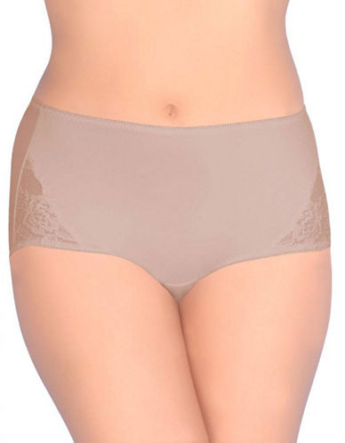 Jones New York Tummy Modern Brief-LIGHT BEIGE-Medium
