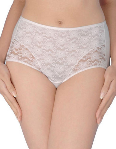 Jones New York Tummy Modern Brief-WHITE-X-Large