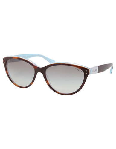 Ralph By Ralph Lauren Eyewear Plastic Round Cateye-TORTOISE AND TURQUOISE-One Size