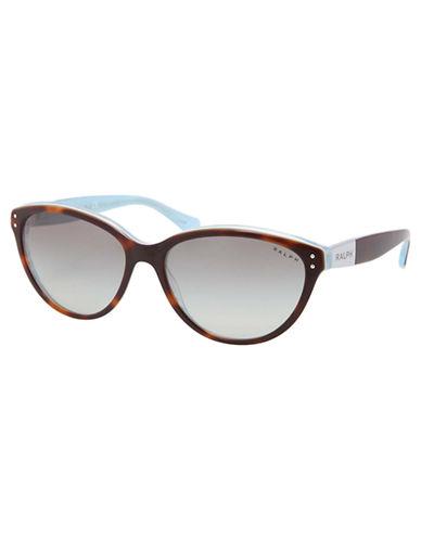 Ralph By Ralph Lauren Eyewear Plastic Round Cateye-TORTOISE AND TURQUOISE-One Size