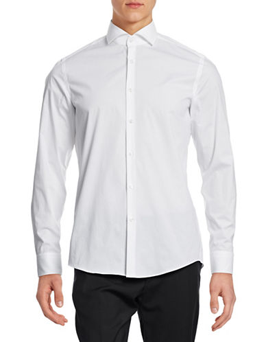 Hugo Jason Slim Fit Sport Shirt-WHITE-EU 41/US 16