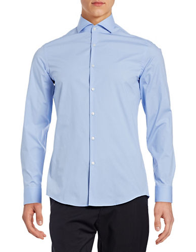 Hugo Jason Slim Fit Sport Shirt-BLUE-EU 39/US 15.5