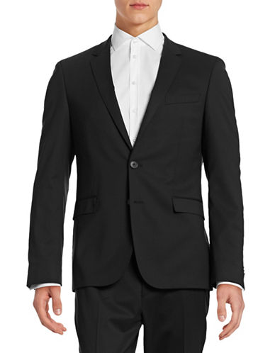 Hugo Day and Night Look Wool-Blend Sports Jacket-BLACK-40 Tall
