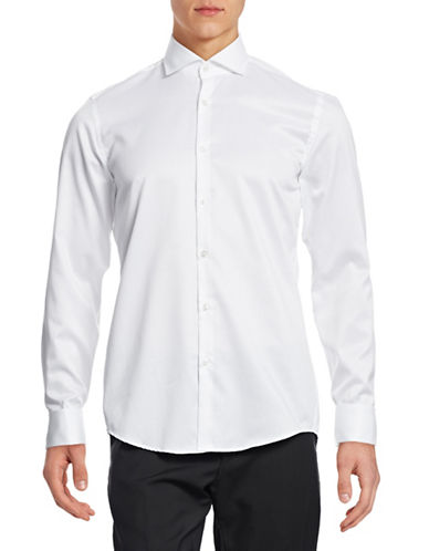 Hugo Jales Slim-Fit Sport Shirt-WHITE-EU 38/US 15