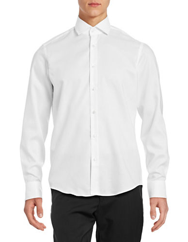 Hugo Gordon Oxford Cotton Shirt-WHITE-EU 46/US 18