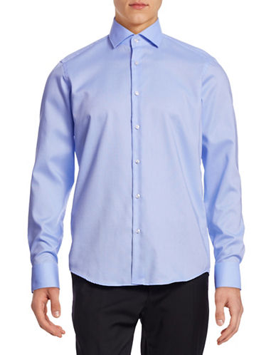 Hugo Gordon Oxford Cotton Shirt-BLUE-EU 44/US 17.5