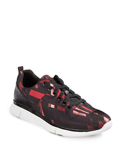 Boss Green Gym Geo-Print Sneakers-RED-UK 11/US 12