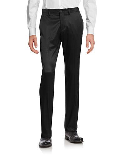 Boss Green Hakan Striped Five-Pocket Pants-BLACK-30