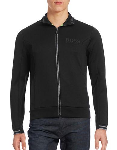 Boss Green Logo Zip Sweater-BLACK-Medium 88592655_BLACK_Medium