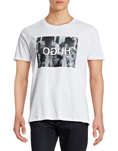 Hugo Danorama Crew Neck T-Shirt-WHITE-X-Large 88394327_WHITE_X-Large
