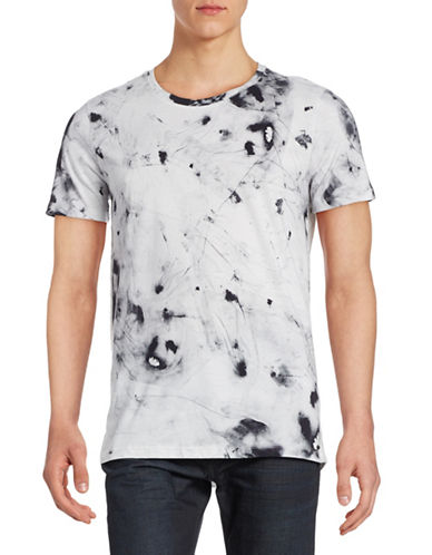Hugo Marble Printed T-Shirt-WHITE-Medium 88394309_WHITE_Medium