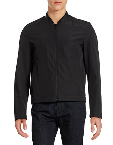 Hugo Balkin Water-Repellent Bomber Jacket-BLACK-X-Large 88394041_BLACK_X-Large